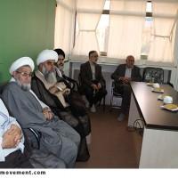بازدید امام جمعه محترم ارومیه از فعالیت های دفتر نهضت مردمی پوستر انقلاب