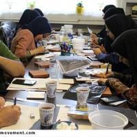گزارش تصویری/کارگاه آموزشی طراحی بر روی کاشی بدون نیاز به کوره