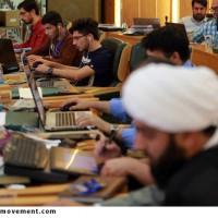 گزارش تصویری دومین کارگاه تولید پوستر نقش بهشت در مشهد