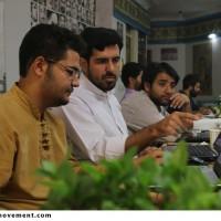 گزارش تصویری کارگاه تولید پوستر نشان آسمان در تبریز